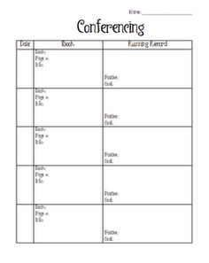 reading conferences with students - track reading progress and talk with kids about their reading