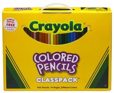 Kids' Colored Pencils - Crayola Colored Wood case Pencil Class pack 33 mm 14 Assorted Color SetsBox 688462 * For more information, visit image link.