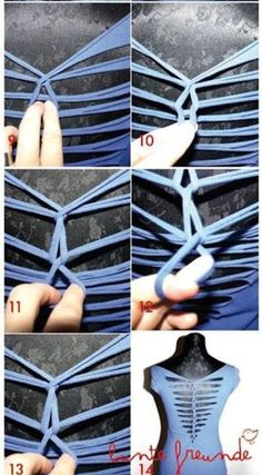 DIY T Shirt Cutting Back – Day 46 http://interestingfor.me/diy-t-shirt-cutting-back/