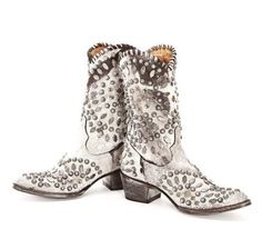 L 930-3 OLD GRINGO Tino Tino Brown White Riveted Boots - bootjunky.com