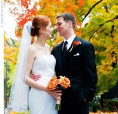 Gorgeous fall wedding photo!