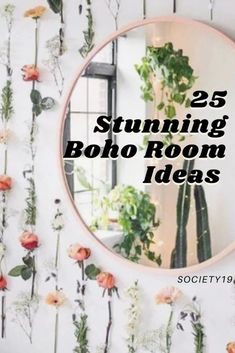 25 Stunning Boho Room Ideas Plant Shelves, Hanging Shelves, Golden Pothos, Round Chair, Boho Room, Snake Plant, College Hacks, Wooden Crates, Floor Mirror