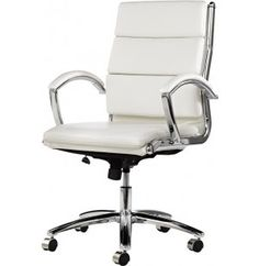 Neratoli Mid-Back Swivel-Tilt Executive Chair ALE-NR42 - If you are looking for luxurious executive style at an affordable price, the Neratoli Executive Chair has it all. The simple elegance of a slim profile and luxurious material will frame any company president or school principal beautifully.