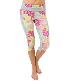 Love this Pink Blossom Wince Training Capri Leggings by Colosseum on #zulily! #zulilyfinds