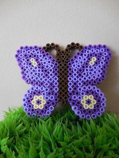 2 Hama Perlen lila Schmetterlinge von TCAshop auf Etsy
