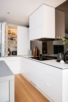 What was once an 1970s kitchen has been renovated into a spacious and sleek space