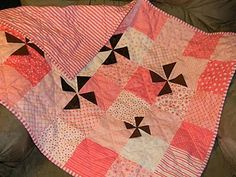 Quilt Pink 3-D pinwheels