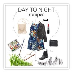 """Day to night"" by ava-neby on Polyvore featuring MINKPINK, Windsor Smith, Acne Studios, Forever 21, Billabong, MAC Cosmetics, DayToNight and romper"