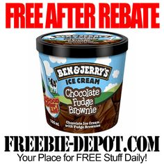 FREE AFTER REBATE - Ben & Jerry's Ice Cream Mini Cup - Freebie Friday Ice Cream with Digital Rebate Coupon #freebiefriday
