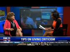 Dr. Mimi Speaks on Dealing with Workplace Criticism on Fox 35 News
