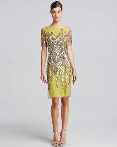 Glamorous dress.