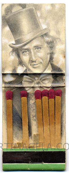 Jason D'Aquino's Matchbook Drawings: Willy Wonka