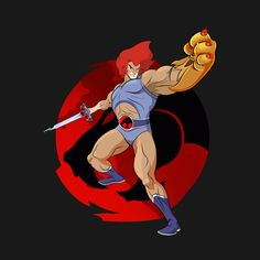 Lion-O - Thundercats - T-Shirt Thundercats Cartoon, Old School Cartoons, Retro Cartoons, Comic Book Characters, Comic Books, Monster Rancher, Super Anime, Fanart, Yuyu Hakusho