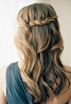 This simple waterfall braid is a great look for formal occasions.