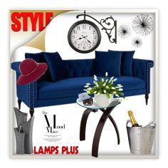 """""""Lampsplus"""" by ramiza-rotic ❤ liked on Polyvore featuring interior, interiors, interior design, home, home decor, interior decorating, Jennifer Taylor, Universal Lighting and Decor, Howard Miller and Dot & Bo"""