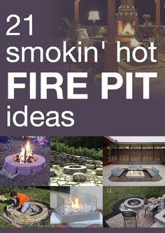 Looking for a way to really make an impact to your outdoor living space this year? A backyard fire pit could be exactly what your yard needs! Here are 21 great #DIY ideas to get you started! #outdoor #backyard