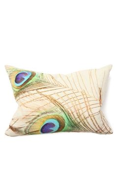 "Classic Concepts     Illusion Peacock Digital Print Pillow - 14"" x 20"" - Set of 2"