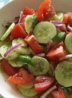 new kitchen book: CUCUMBER TOMATO SALAD