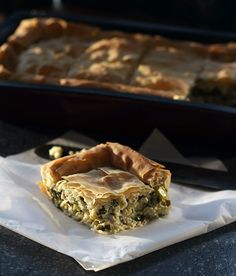 Leek Pie with yogurt and herbs