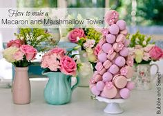 Bubble and Sweet: Free video tutorial how to make a marshmallow and macaron tower