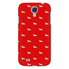 Doxie Pattern Samsung Phone Case - Red