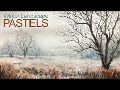 How To Draw a Winter Landscape - Pastel Lesson - YouTube