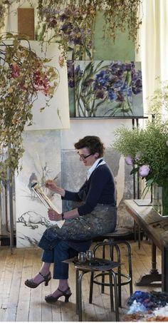 Claire Basler in her Studio