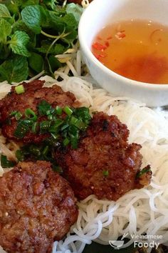 Vietnamese Grilled Pork with Rice Noodles (Bun Cha Recipe) - Vietnamese Foody #noodle #buncha