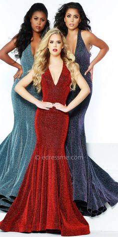 cc093ab7bb Show off your trend setting style in the Sweep Train Open Back Shimmer  Jersey Prom Dress