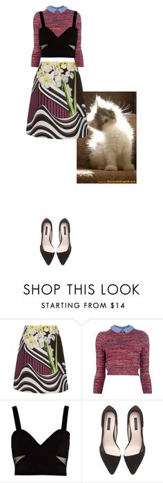 """""""Untitled #3134"""" by prettyroses ❤ liked on Polyvore featuring Mary Katrantzou, Carven, River Island, Zara, women's clothing, women, female, woman, misses and juniors"""