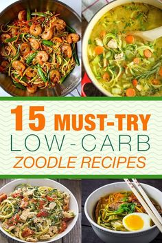 Zoodles are all the rage right now and we found 15 must-try low-carb zoodle recipes so you don't have to! Quick, easy, healthy and delicious!