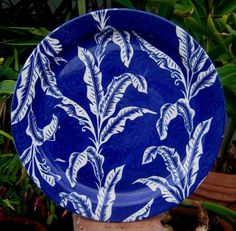 "Perhaps the most amazing of all - Wallace Blue Shadowleaf 13"" chop plate. Striking; stunning"