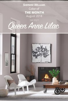 Brace yourself for the most royal of colors, Queen Anne Lilac SW 0021. The August Color of the Month is a sophisticated neutral that carries enough color to brighten any room. Click through to learn more about this gorgeous Sherwin-Williams hue.