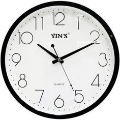 Relógio de Parede Yins YI15071 Branco 30cm - Megazim