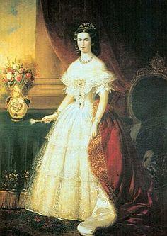 Empress Elisabeth of Austria (Sisi, also known now as Sissi, 1837-1898) Coronation portrait as Empress of Austria.