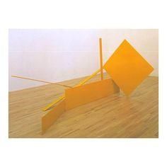 Anthony Caro - Yellow swing 1965 #inspiration #art #color #colour #form #shape #modernist #modernism #minimal #minimalism #simplicity #jewellery #jewelry #fashion #moda #tatemodern