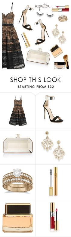 Wishing you a wonderful day :* by dressedbyrose on Polyvore featuring self-portrait, Giuseppe Zanotti, Judith Leiber, Jose & Maria Barrera, Allurez, Yves Saint Laurent, tarte, Givenchy, inspiration and polyvoreeditorial