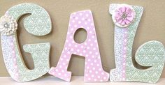 Custom Nursery Letters- Baby Girl Nursery Decor- Personalized Name- Wooden Hanging Letters – Nursery Wall Letters- The Rugged Pearl by TheRuggedPearl http://audrisnursery.com/s/custom-nursery-letters-baby-girl-nursery-decor-personalized-name-wooden-hanging-letters-nursery-wall-letters-the-rugged-pearl-by-theruggedpearl/