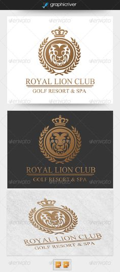 Royal Lion Club Logo Design Template Vector #logotype Download it here: http://graphicriver.net/item/royal-lion-club-logo/4367585?s_rank=164?ref=nexion