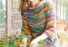 Ein Pullover tunesisch gehäkelt, das ist wirklich etwas besonderes. Dabei wird eine Häkelnadel benutzt, die etwa die Länge einer Jackenstricknadel hat.