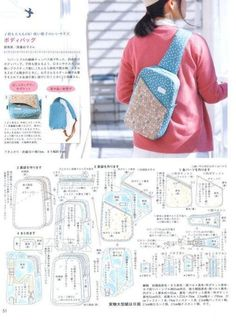 Sewing Backpack Pattern Diy Fabrics Ideas For 2019 Best Picture For DIY Backpack men For Your Ta Mochila Tutorial, Diy Backpack, Backpack Camping, Small Backpack, Diy Bags Purses, Backpack Pattern, Sewing Lessons, Bag Patterns To Sew, Quilted Bag