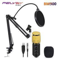 97b8ed76e52 FELYBY bm 800 upgraded bm 900 Professional Studio Karaoke USB Condenser  Microphone