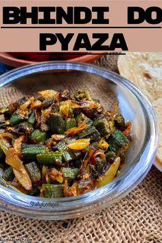 Tasty Vegetarian Recipes, Veg Recipes, Spicy Recipes, Curry Recipes, Cooking Recipes, Bhindi Fry, Indian Vegetable Recipes, Pakora Recipes