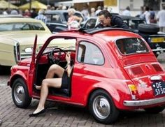 Fiat Cinquecento, Fiat Abarth, Ford Mustang, New Fiat, Fiat Cars, Automotive Photography, Vintage Racing, Vintage Cars, Cute Cars