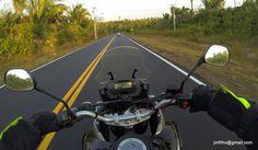 Final de tarde na estrada