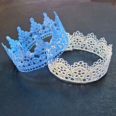 Cómo hacer coronas de encajes para cumpleaños de princesas
