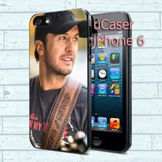 "Luke Bryan Playing Guitar For iPhone 6 4.7"" screen Black Case"