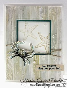 A La Pause: Marie-Josée Trudel Hardwood, By the Seashore, Stampin' Up!, SU, cartes, cards