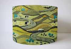 British Landscape Lampshade, Countryside Scene, Country Home Accessories, Scenic Lamp Shade For Table Lamp, Nature Home Decor Living Room Green With Blue, Shades Of Green, Rainbow Bedroom, Star Lamp, Adventure Nursery, Floor Standing Lamps, British Countryside, Natural Home Decor, Ceiling Pendant