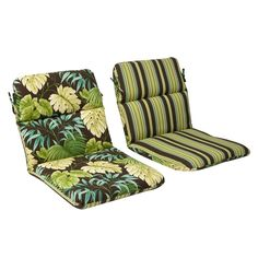 Pillow Perfect Outdoor Green/ Tropical Round Chair Cushion